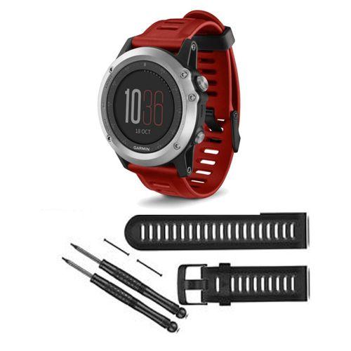 Relógio - Garmin Fenix 3 Sapphire GPS (Bundle) - Prata   Vermelho -  010-01338-26 - waz 6a0f5d2d635