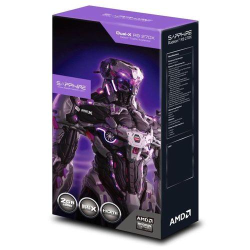 Placa de vídeo - AMD Radeon R9 270X (2GB / PCI-E) - Sapphire Dual-X OC  Edition - 11217-01-20G