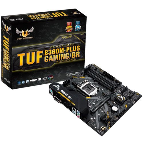 Placa mãe LGA 1151 - Asus TUF B360M Plus (Micro ATX) DDR4