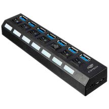 120411-1-Hub_USB_30_7_portas_com_chave_seletora_C3_Tech_Preto_HU_S370BK_120411